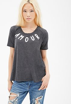 Amour Graphic Swing Tee | FOREVER21 - 2000136505