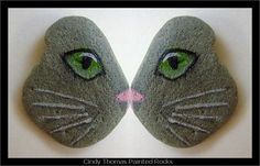 Butterfly Stone Cat | Painted rock cat's face. paintingrocks… | Flickr