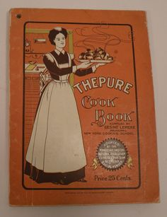 1908 Vintage THEPURE  Cook Book Gesine Lemcke by HourGlassBooks