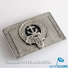 Gray Clan Crest Belt Buckle