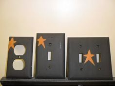 These are switchplates I painted that cost 1.78 for 3,(Walmart) compared to prepainted that cost 11.95 each.