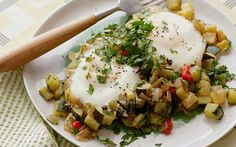 Courgette Hash Browns and Eggs Recipe by Food Network Kitchens