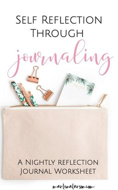 Take some time for self reflection through doing this simple journaling worksheet on a nightly basis. Becoming more self aware helps you transform your life. Journal Layout, Journal Prompts, Journal Pages, Writing Prompts, Journal Ideas, Daily Journal, Writing Ideas, Junk Journal, Creative Writing