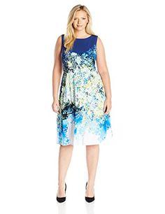 41451eb35db7 Julia Jordan Women s Plus Size Floral Fit and Flare Dress