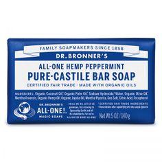 Dr. Bronner Organic Peppermint Soap Bar - 140g