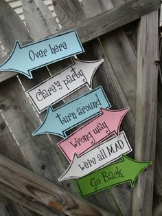 Printable Arrows - Alice in Wonderland Birthday Party -- Pomp Designs. $7.00, via Etsy.