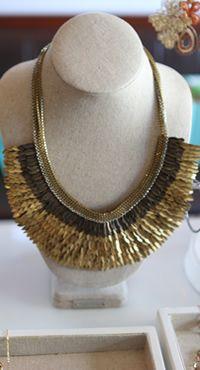 Goddess statement necklace.