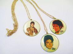 Vintage 80's Michael Jackson Necklace DEADSTOCK by SHOPHULLABALOO