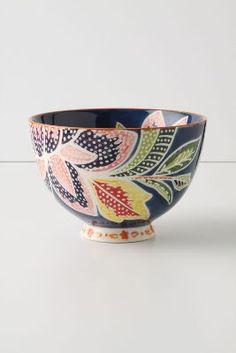 Flame Leaf Bowl, Lotus Flower