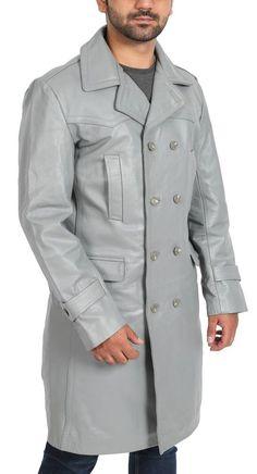 227ff816593 Brand New Men s Genuine Designer Lambskin Leather Trench Coat Long Jacket  MTC17  LeatherCraze  Trench