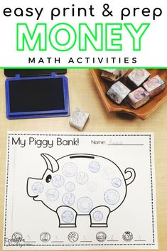 Use these math games to build students' money skills. Teach money with these fun… Use these math games to build students' money skills. Teach money with these fun and simple math activities with your kindergarten students. Money Activities, Kindergarten Math Activities, Fun Math, Math Games, Math Resources, Fun Games, Preschool, Canadian Coins, Teaching