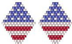 Bead Pattern - Stars and Stripes Earrings
