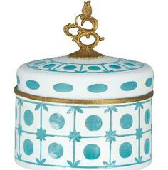 Blue and White Decorative Box  from www.wellappointedhouse.com