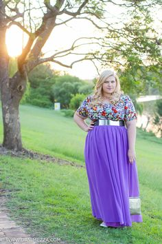 Danimezza Aussie Curves Plus Size Blogger Outfit Challenge Virtu Modcloth Youtheary Khmer MAXI SKIRT