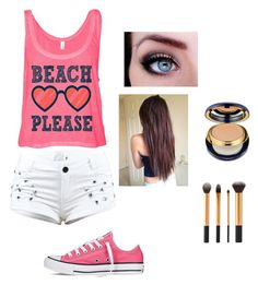 """Summer vacation"" by auggie1xoxo ❤ liked on Polyvore featuring Converse, Estée Lauder, women's clothing, women's fashion, women, female, woman, misses and juniors"