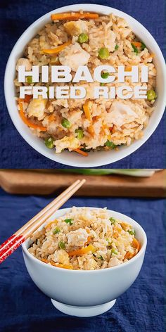 Hibachi Fried Rice Recipe Copycat Make your own tasty hibachi Japanese style fried rice Healthy Pan Asian Rice recipe with video Easy Rice Recipes, Side Dish Recipes, Asian Recipes, Dinner Recipes, Recipes With Jasmine Rice, Japanese Food Recipes, Hibachi Fried Rice, Benihana Fried Rice, Hibachi Noodles