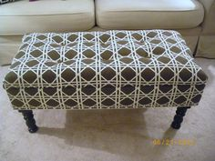 diy tufted ottoman tutorial by Maple Leaves & Sycamore Trees