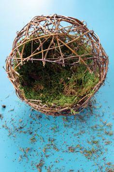 Make Your Own Fairy Garden Sphere - Crafts Unleashed Make your own Fairy Sphere Crafts Unleashed 4 Fairy Garden Supplies, Fairy Garden Houses, Gardening Supplies, Fairies Garden, Garden Spheres, Fairy Crafts, Fairy Furniture, Furniture Ideas, Furniture Design