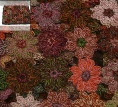 Sophie Digard flower crochet scarf - zoom view by reva