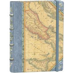 Punch Studios Library Journal Old World Map