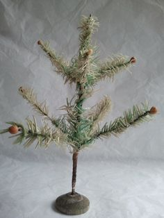 Small Victorian Light Green Feather Tree German 7 Inch | eBay