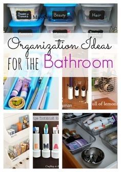 Check out these Great Organization Ideas for your bathroom. Get your house in order one room at a time!