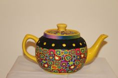Decorative pitcher made of polymer clay - Home decor polymer clay art -gift idea by tamarozenpolymerclay on Etsy https://www.etsy.com/listing/399680731/decorative-pitcher-made-of-polymer-clay