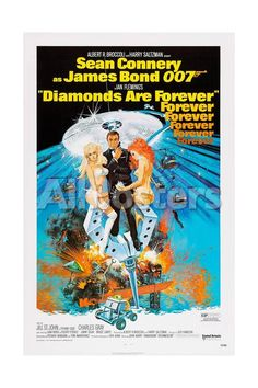 Diamonds are Forever, Sean Connery, 1971 People Giclee Print - 30 x 46 cm
