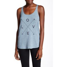 360 CASHMERE Love Tank ($50) ❤ liked on Polyvore featuring tops, washed denim w charcoal print, sleeveless tops, blue tank top, blue print top, blue top and blue sleeveless top