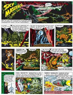Sky Masters Sunday Funnies by Jack Kirby and Wally Wood