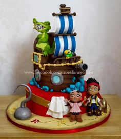 Jake and the neverland pirates birthday cake by Zoe's Fancy Cakes