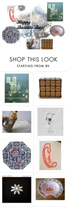 """Bastille Day"" by reveriefrance ❤ liked on Polyvore featuring interior, interiors, interior design, home, home decor, interior decorating, Sarah Coventry, paris, redwhiteandblue and france"