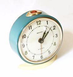 Vintage mechanical alarm clock Rostov from Russia Soviet Union $35