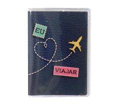 Porta-Passaporte Adoro Viajar | Funstock Presentes Criativos