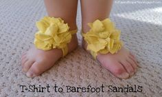 barefoot sandals out of a t-shirt