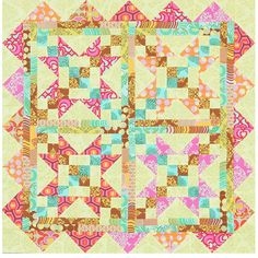 Bright Scrap Quilting Project
