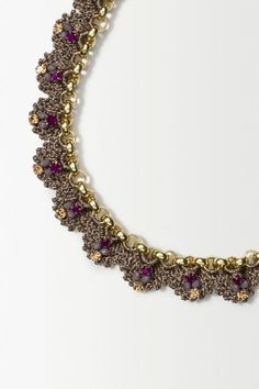 St Erasmus Crochet Gild Necklace - anthropologie.eu