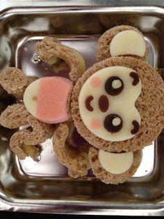 LOVE this MONKEY!!!  #kids food #bento #fullcircleeventi