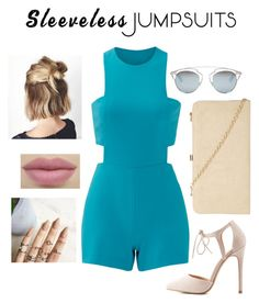 """""""Sleeveless jumpsuit contest"""" by klocken ❤ liked on Polyvore featuring Nicole Miller, Charlotte Russe, Dorothy Perkins, Christian Dior and sleevelessjumpsuits"""