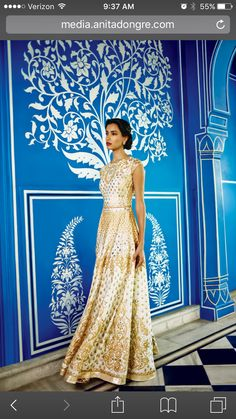 Gotapatti gown from Anita Dongre