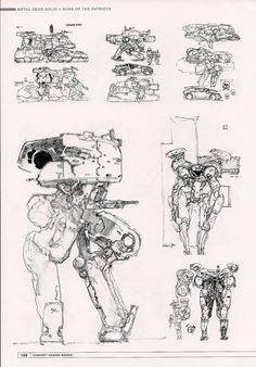 """""""Metal Gear"""" by Yoji Shinkawa* 