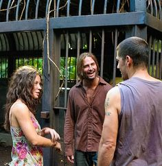 Bts of Lost with Josh Holloway, Evangeline Lilly, and Matthew Fox