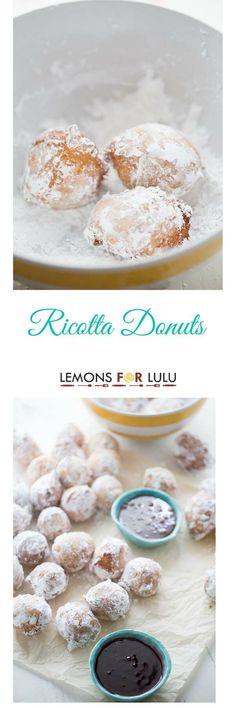Ricotta Donut Recipe - Lemons for Lulu - Food and Recipe Blog