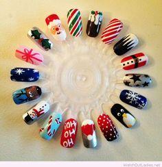 Wonderful Christmas nail art ideas