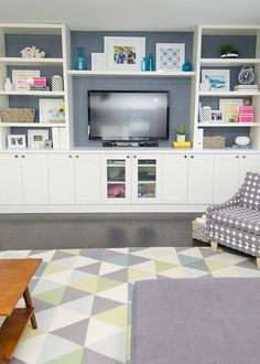How to build an entertainment wall unit ikea hack how to create a built in out . how to build an entertainment wall unit Ikea Built In, Built In Desk, Built In Shelves, Built Ins, Floating Shelves, Ikea Kitchen Cabinets, Living Room Cabinets, Built In Cabinets, Diy Kitchen