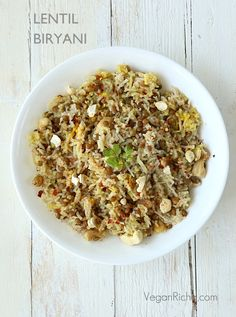 Lentil Biryani and The Great Vegan Bean Book Review and Giveaway. | Vegan Richa