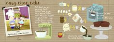 easy choc cake by R.Kioko - They Draw & Cook