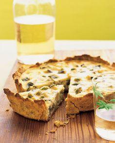 Heavy cream and Pecorino Romano cheese make this quiche exceptionally ...