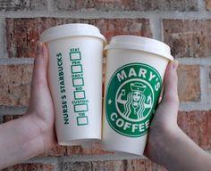 Nurse Starbucks Coffee Cup travel coffee by MyDesignsbytheDozen