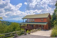 """See incredible mountain views from your very own secluded, luxury cabin in Pigeon Forge, TN. """"Lasting Impression"""" lives up to its name & you'll save Vacation Cabin Rentals, Luxury Cabin, Mountain View, The Incredibles, Mountains, Bedroom, House Styles, Home, Ad Home"""